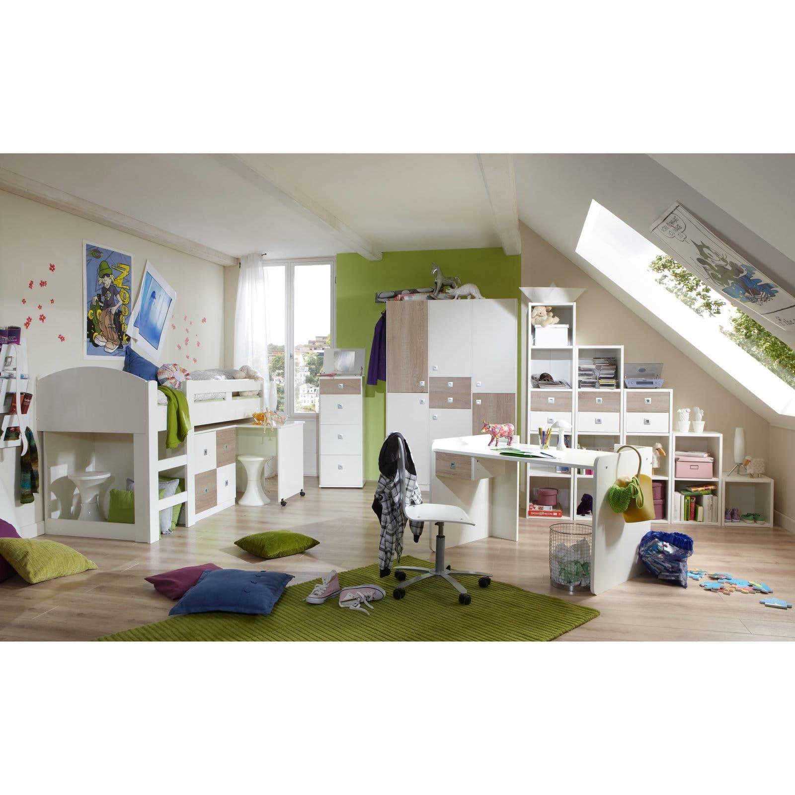 Schau Mal Was Ich Bei Roller Gefunden Habe Hochbett Alpinweiss Sonoma Eiche 204x127 Cm Jugendzimmer Kinderzimmer Mobel Kinder Zimmer