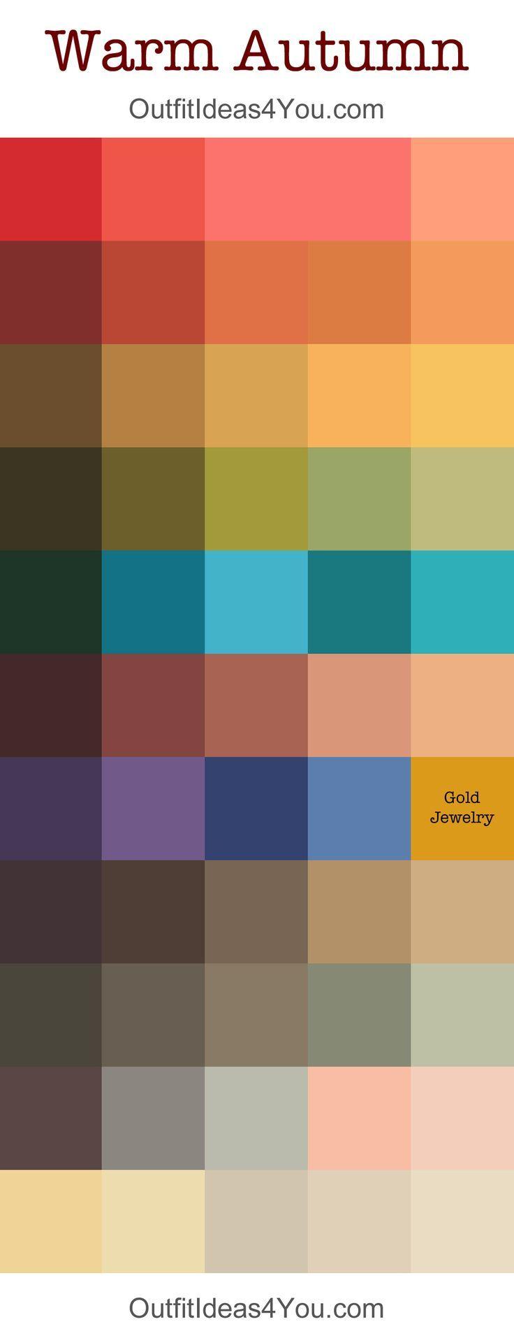 warm autumn seasonal color palette n hen farben herbst farben und herbsttyp farben. Black Bedroom Furniture Sets. Home Design Ideas