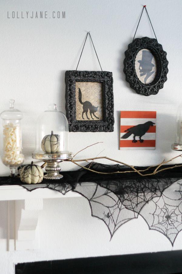 vintage Halloween mantel Vintage halloween, Mantels and Halloween fun