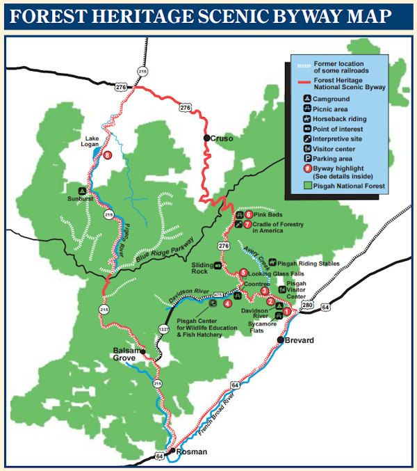 Forest Heritage National Scenic Byway North Carolina Scenic