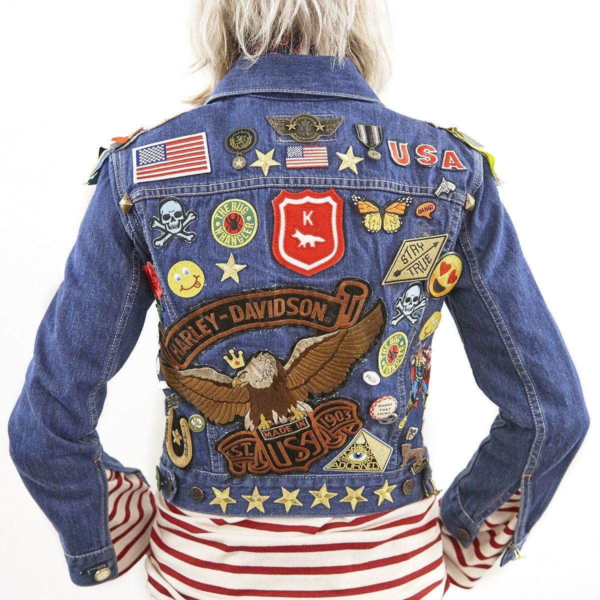 Patches on Blue Jean Jacket (With images) Embellished