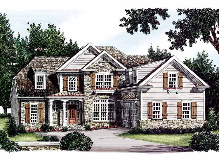 Eplans French Country House Plan - Rustic and Relaxing - 2430 Square