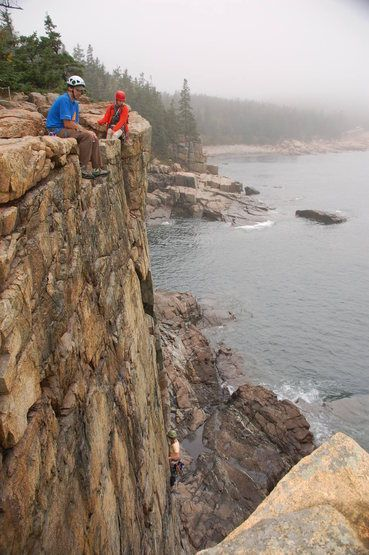 Otter Cliffs In Acadia National Park Maine Offers Unique Opportunity For Sea Cliff Climbing