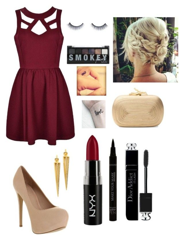 """""""Untitled #287"""" by hannabug6432 ❤ liked on Polyvore featuring Ally Fashion, Office, Paige Novick, Christian Dior, NYX, Diane Von Furstenberg and Napoleon Perdis"""