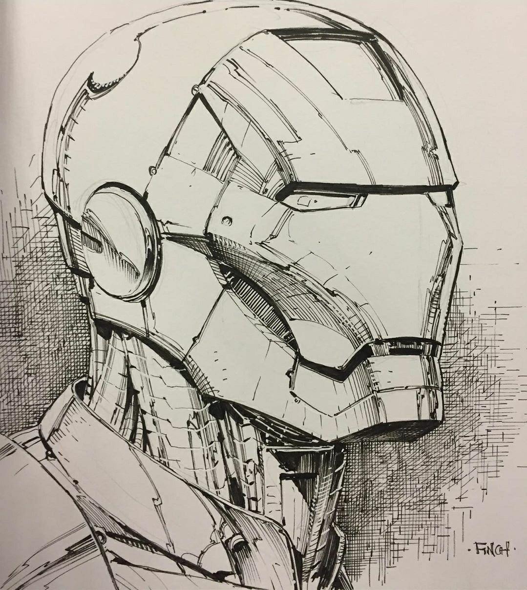 Iron Man Sketch By David Finch