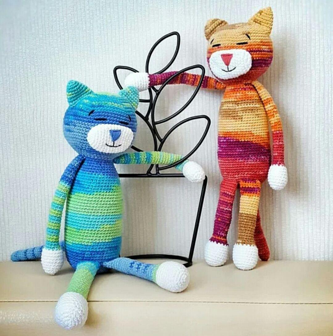 Amigurumi Büyük Boy Uykucu Kedi Modeli Yapılışı ( Anlatımlı ) – Örgü ...