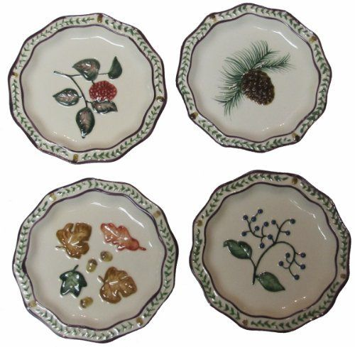 Walk in the Woods Ceramic Mini Plates Set of 4 - 4.5 Inch by Manual Woodworkers  sc 1 st  Pinterest : 4 inch decorative plates - pezcame.com