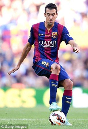 Sergio Busquets in action for Barcelona...