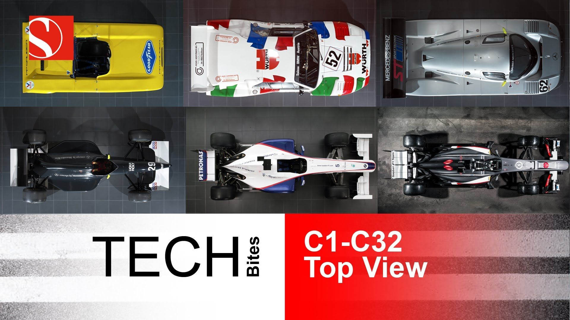 Sauber Team Tech Bites Evolution Of Race Cars Top View More
