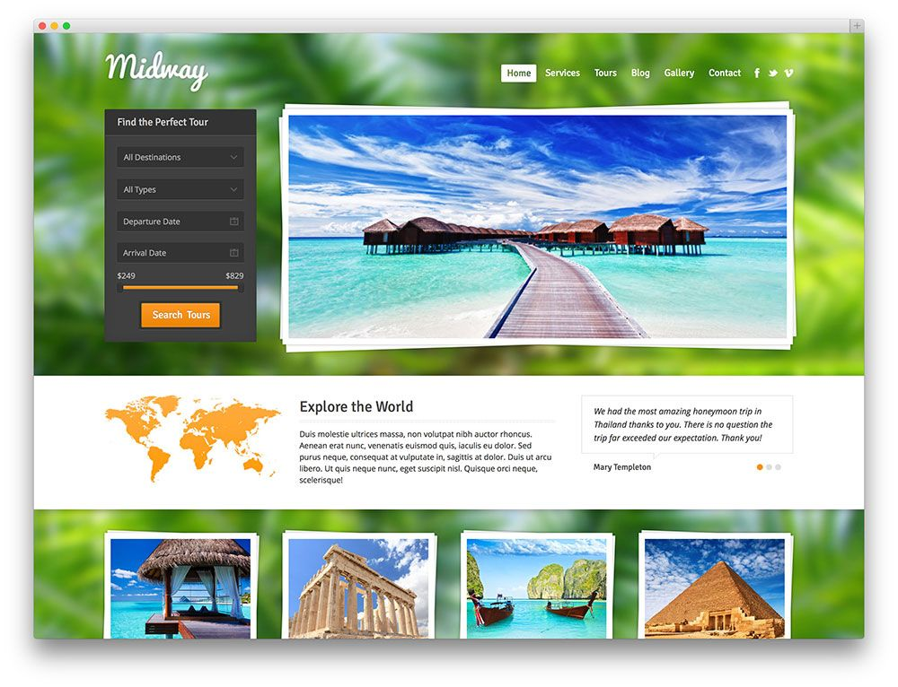 midway - travel booking theme | Digital Nomad Travel | Pinterest ...