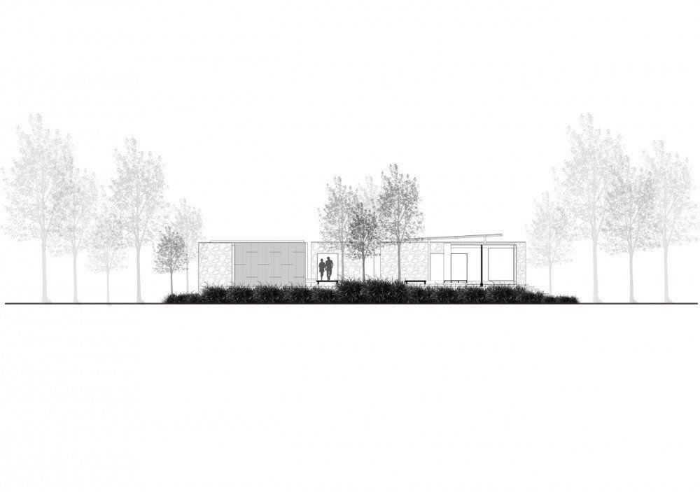 Botánica Oficinas & Showrooms / Vin Varavarn Architects,Corte 2