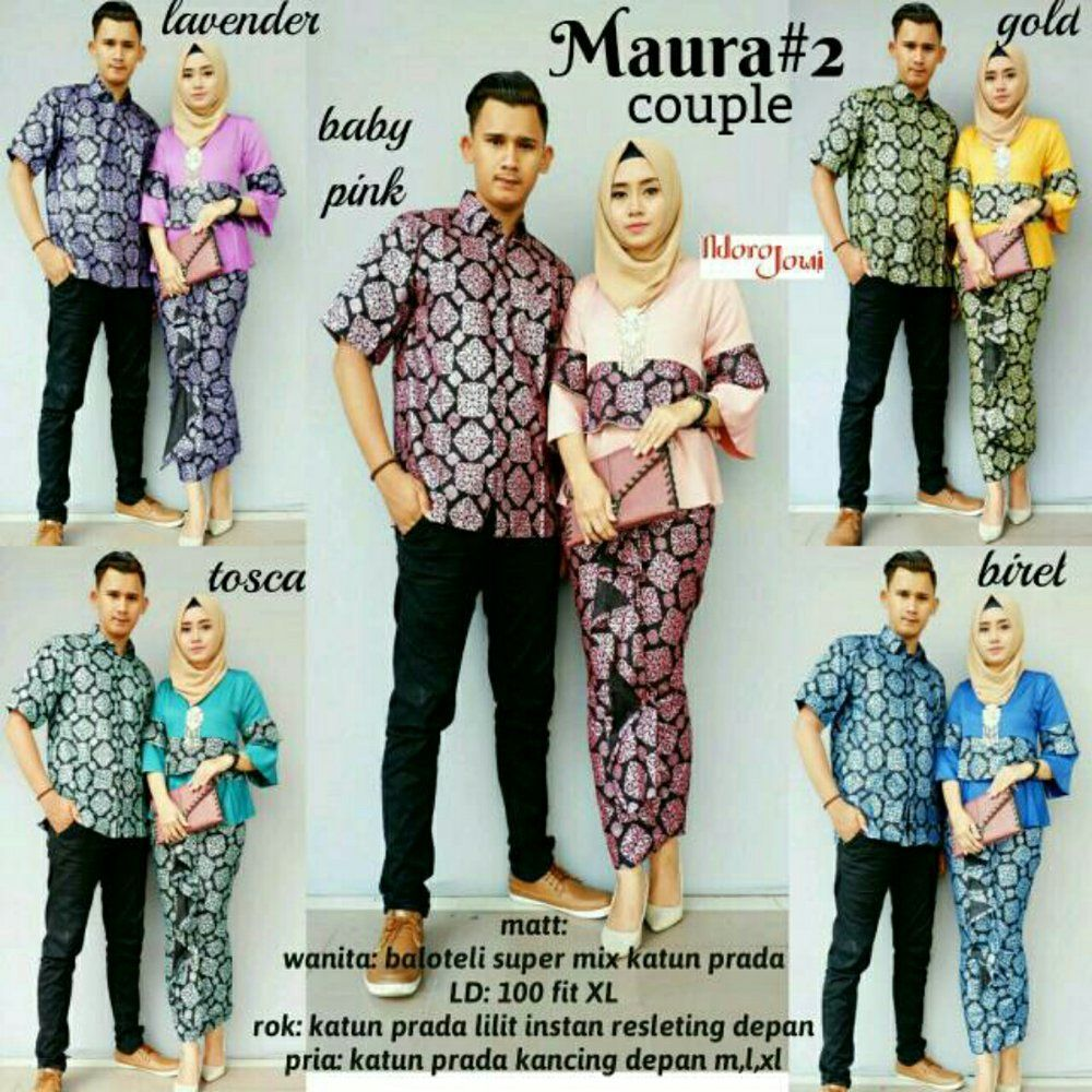 Trend Model Baju Batik Couple Sarimbit Anak Muda 2018 Maura Couple