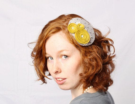 SALE Beaded Rosette & Lace Headpiece with by OggleAesthetics