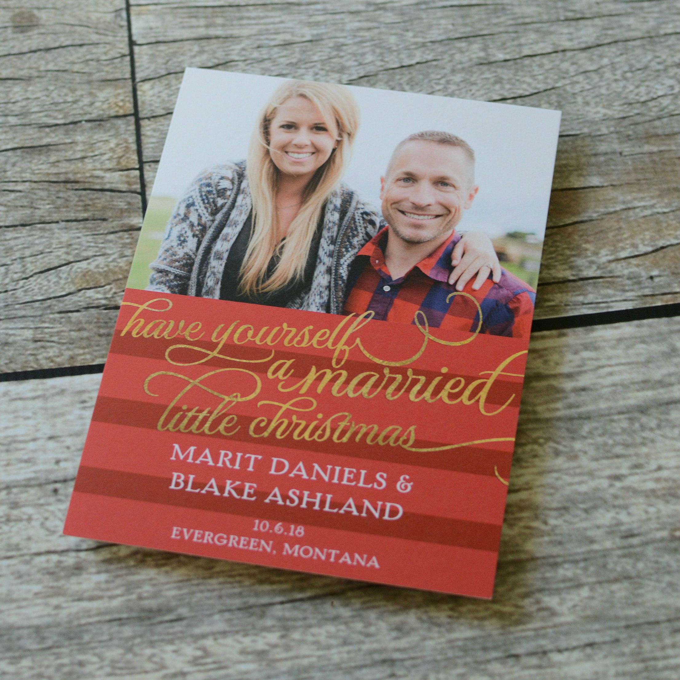 Married Little Christmas - Holiday Card Save the Date | Wedding and ...