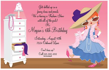 Dress Up Time Birthday Party Invitations 24671 – Dress Up Party Invitations