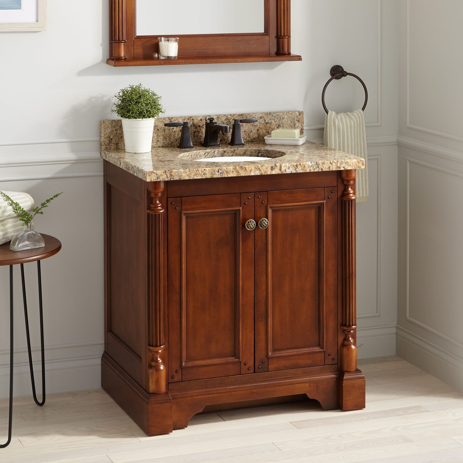 The classic walnut Trevett Vanity for Undermount Sink adds