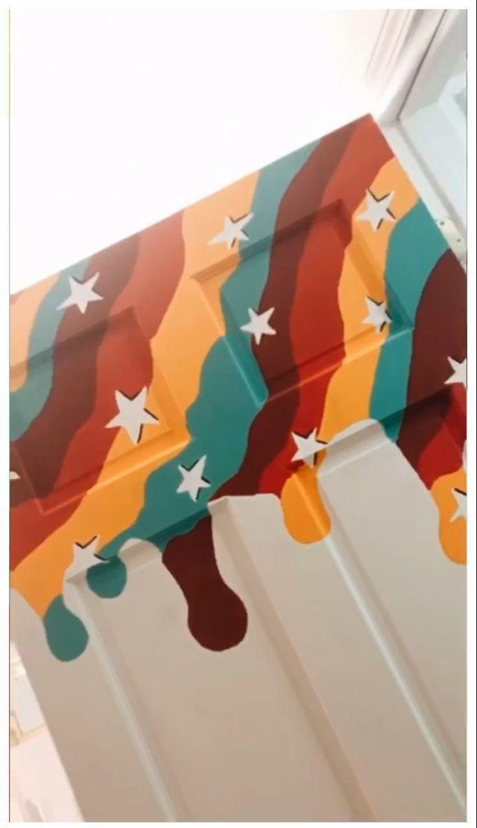 Diy Ideas Para Decorar Tu Cuarto Vsco Door Painting Bedroom Wall Paint Painted Bedroom Doors Art Room Doors