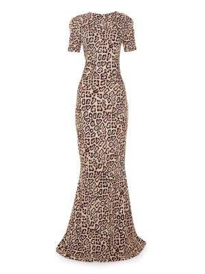 Deep V-back jaguar-print gown | Givenchy | MATCHESFASHION.COM US