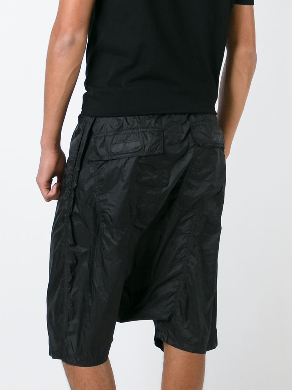 With Paypal Free Shipping drop crotch shorts - Black Rick Owens Outlet Cheap Authentic Many Kinds Of Sale Online JvgaT