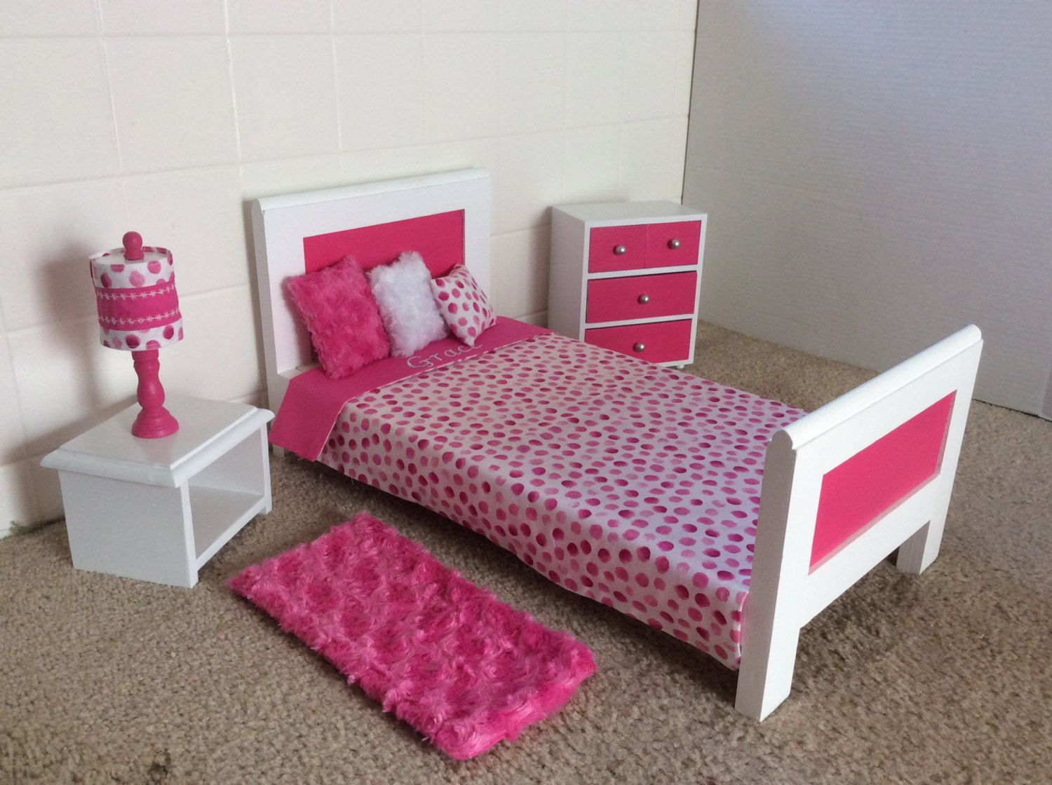 Mini loft bed with slide  Sweet Dreams Bed Collection   inch Doll by AGsprinkles on Etsy