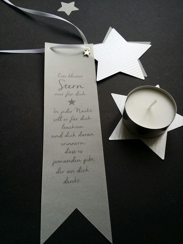 Zauberhaftes Mitbringsel zur Adventszeit oder zu Weihnachten.  Das Geschenk besteht aus einem Anhänger mit einem wundervollen Spruch, einem Papierstern, einem Transparentstern und einem kleinen... #bastelideenweihnachten