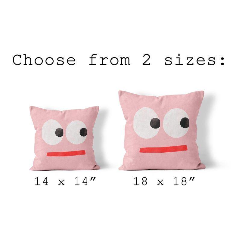 Cute Throw Pillow, Funny Face Pillow, Kids Toss Pillow, Baby Shower Gift, Nursery Throw Pillow, Kids