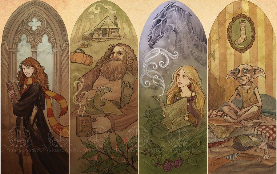 Harry Potter Bookmarks by UnripeHamadryad on DeviantArt