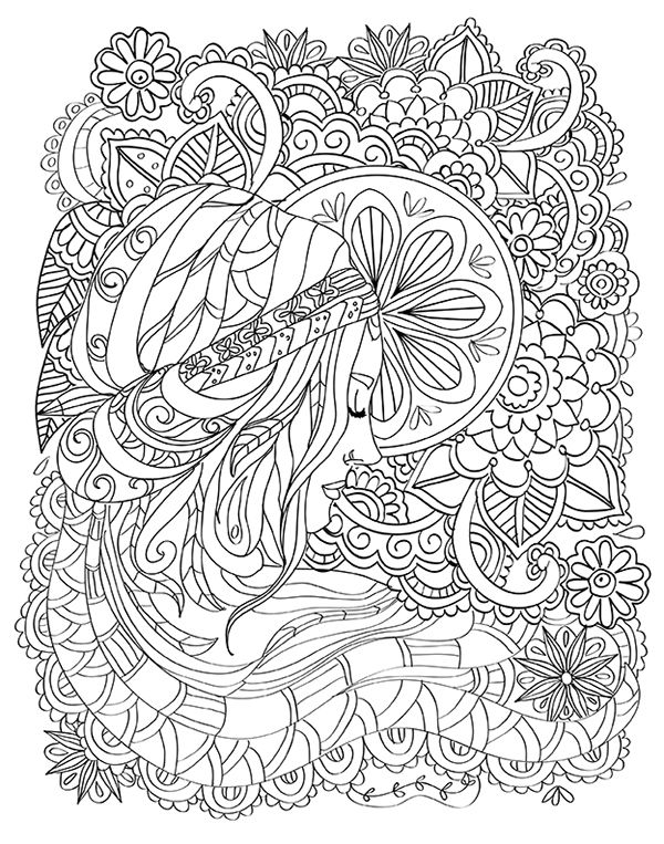 Büyükler Için Boyama Kitabı çizimleridrawings Coloring Book For