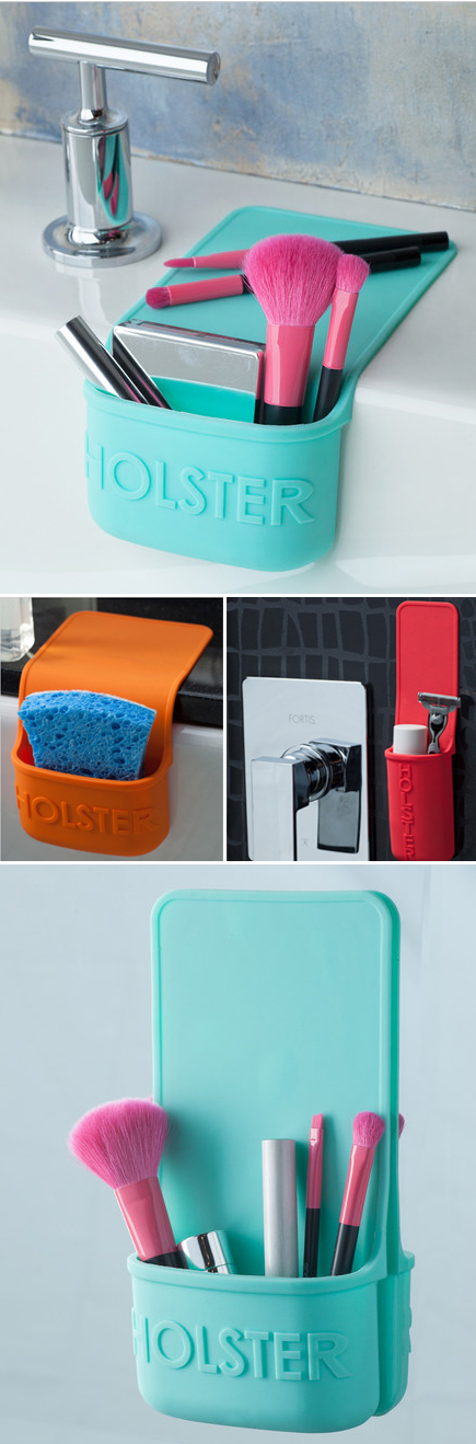 Lil Holster. This self-clinging holster's heat-resistant construction gives you safe storage where it's needed. So many great uses in the kitchen and bathroom!