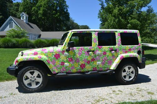 Lilly Pulitzer Wrapped Jeep 2011 Wrangler Unlimited Us 35 500 00 Image 1 Wrangler Unlimited Jeep Wrangler