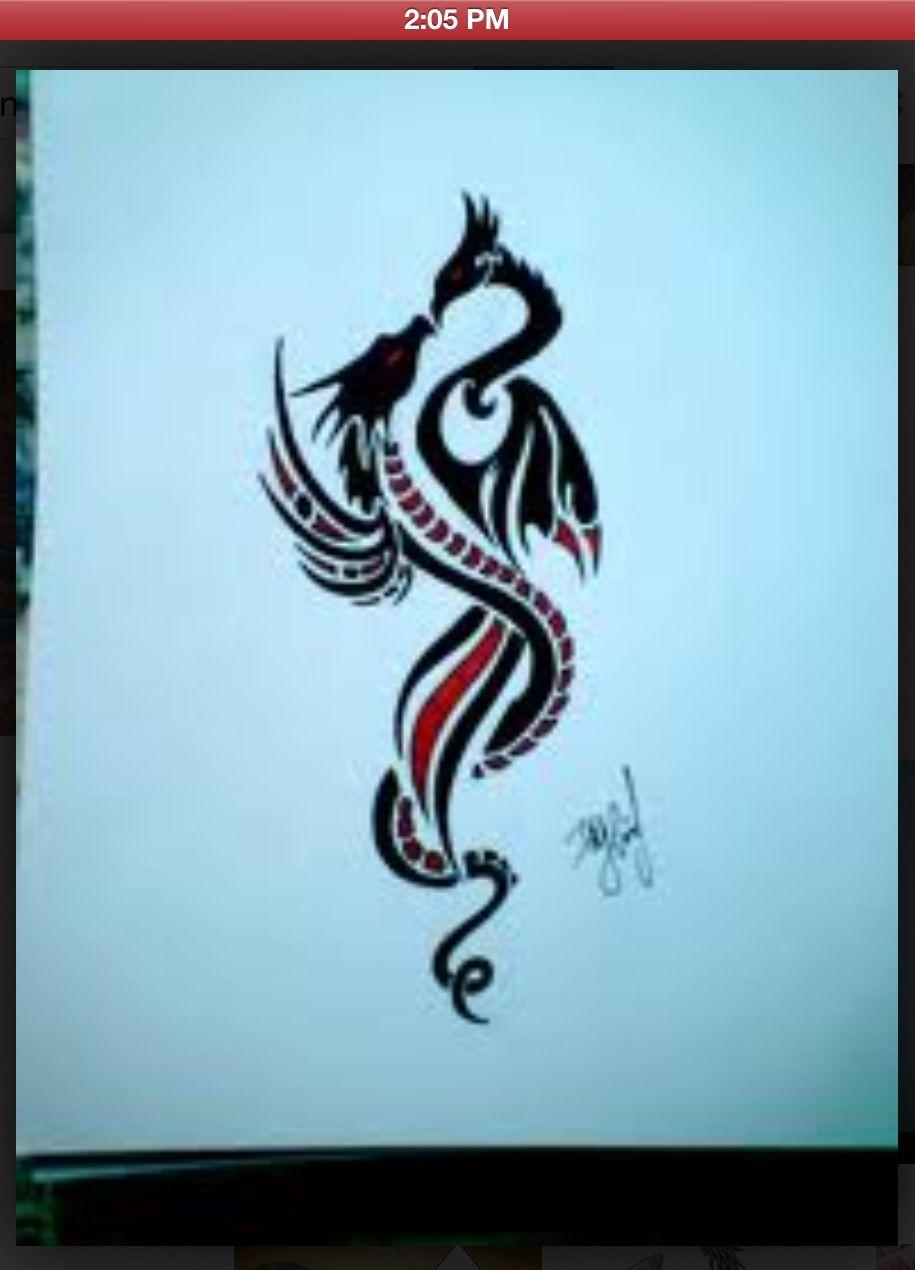 Dragon Phoenix Love Dragon Tattoo Dragon Tattoo Designs Love Tattoos