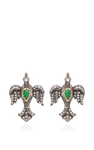 Emerald Bird Studs by ARMAN SARKISYAN for Preorder on Moda Operandi