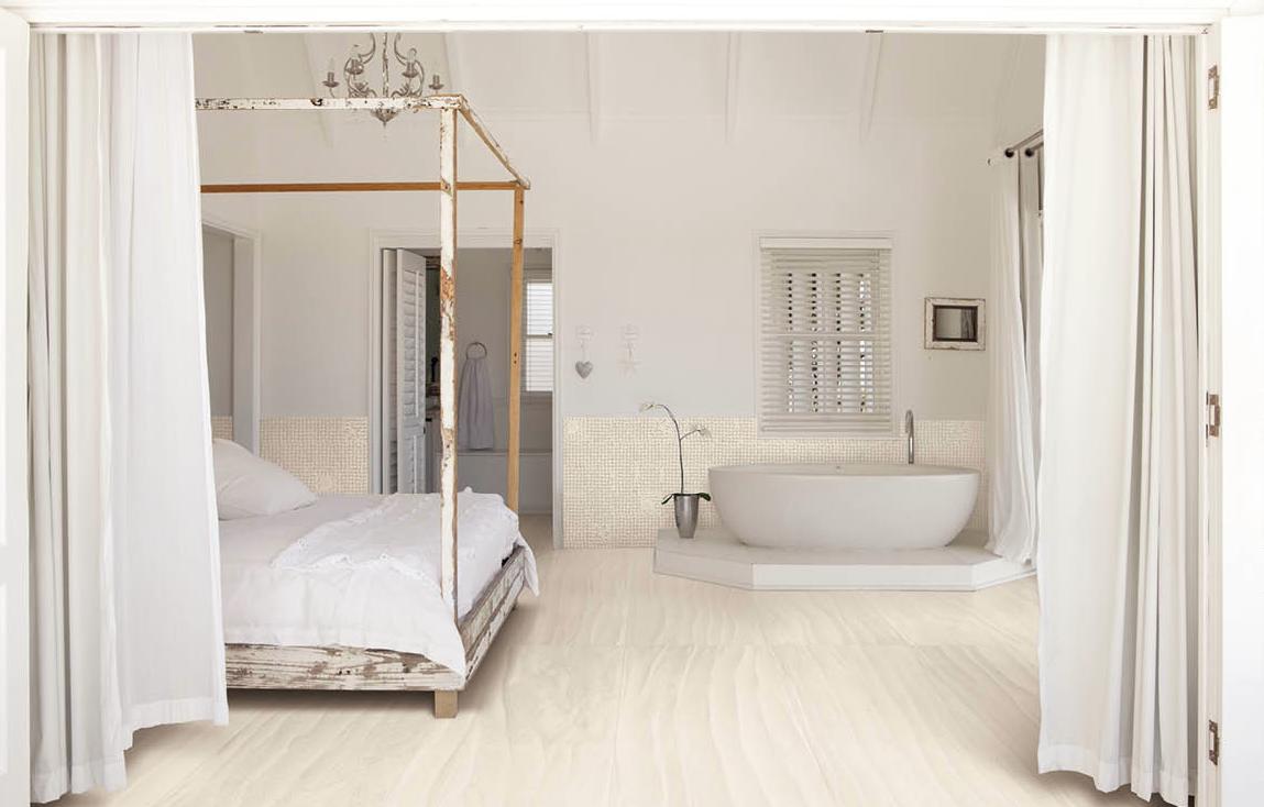 zero design sabbia porcelain floor tile in salar white 24x48