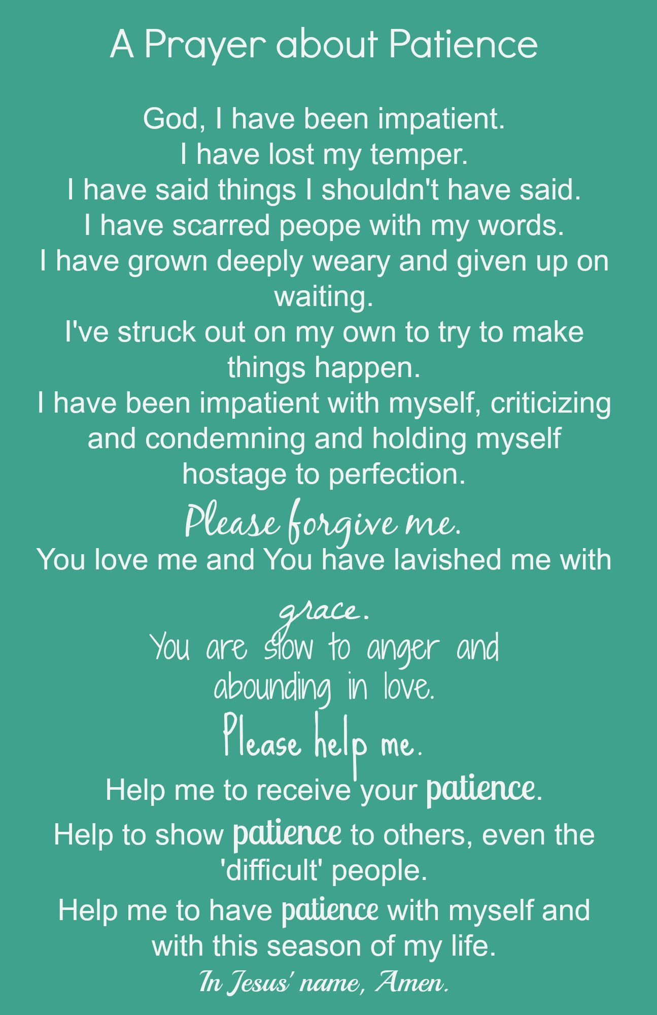 Image Result For Prayer For Patience Prayer For Patience Prayers