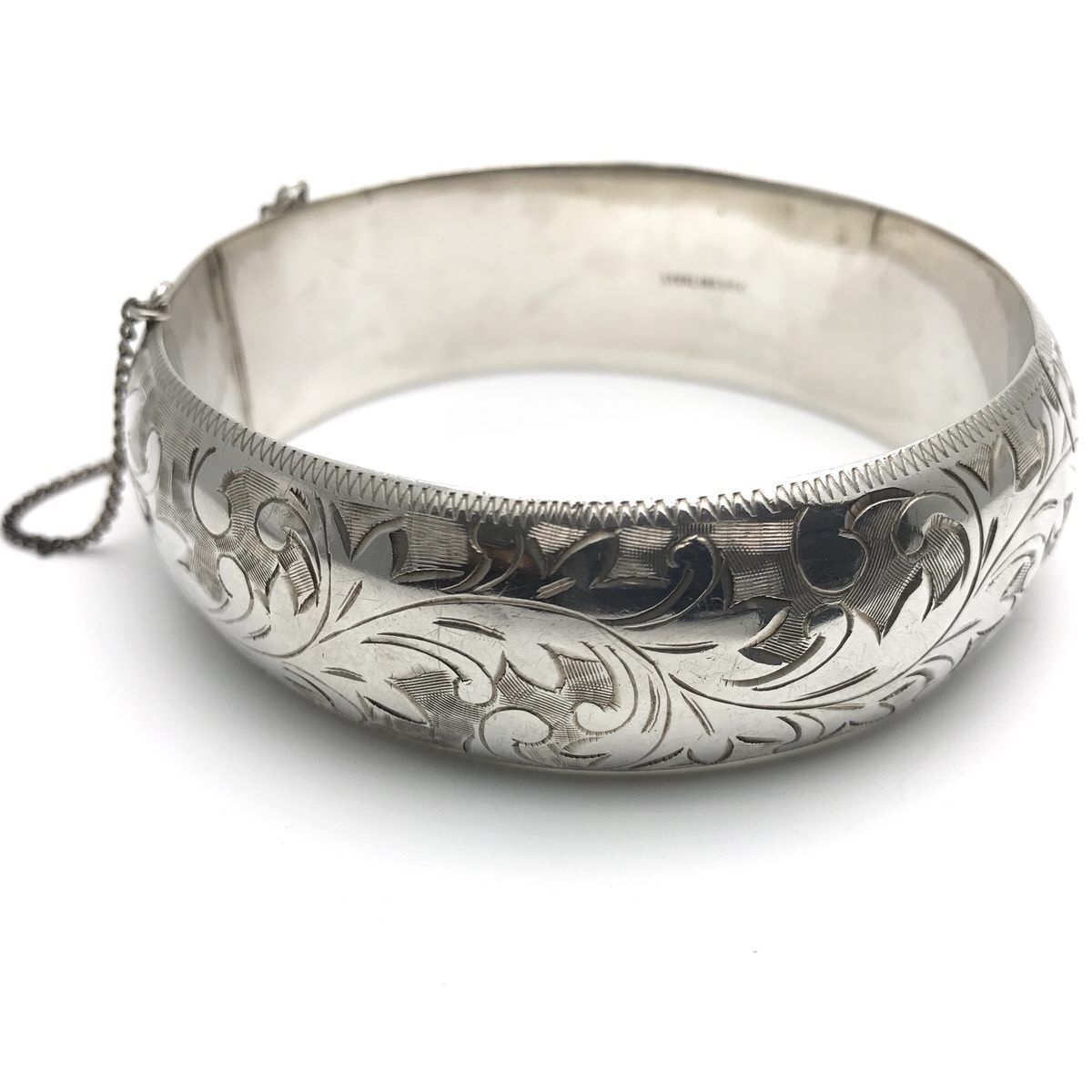 73c00763e1ee6 Exquisite Late Victorian 950 Sterling Silver Bangle Bracelet ...