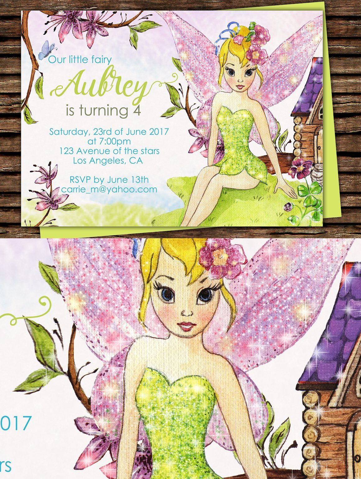 Diy fairy printable invitation with images printable