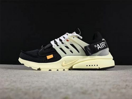 size 40 406d9 3fab9 Most Popular THE 10 Off White x Nike Air Presto Mens Casual Shoes Black  Black-