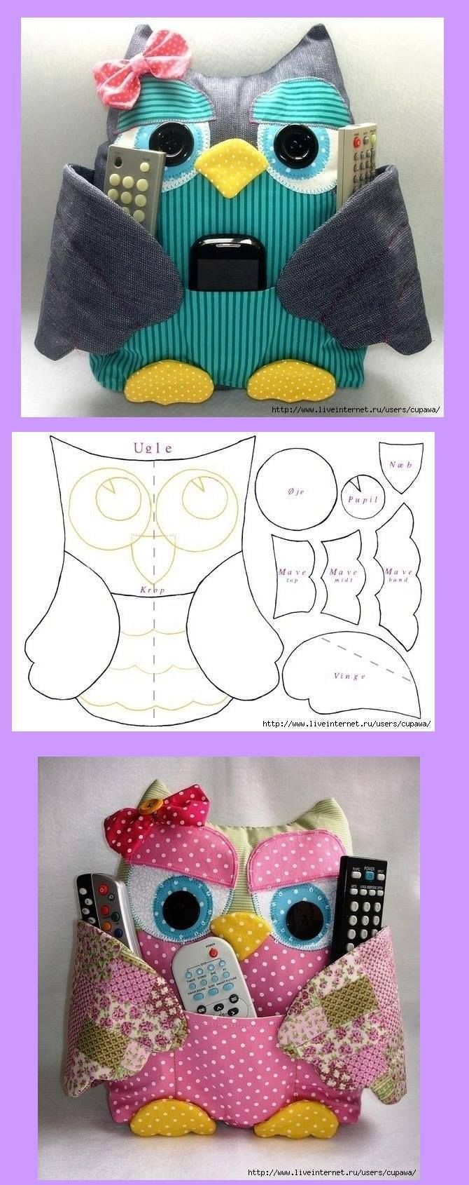 sewing tutorial for owl accessories holder ♥