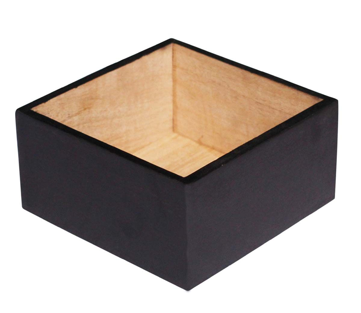 Bulk Wholesale 6x3 Square Wooden Planter Box For Artificial Plants Hand Painted Black De Plant Pot Decoration Planter Pots Outdoor Artificial Plants Decor