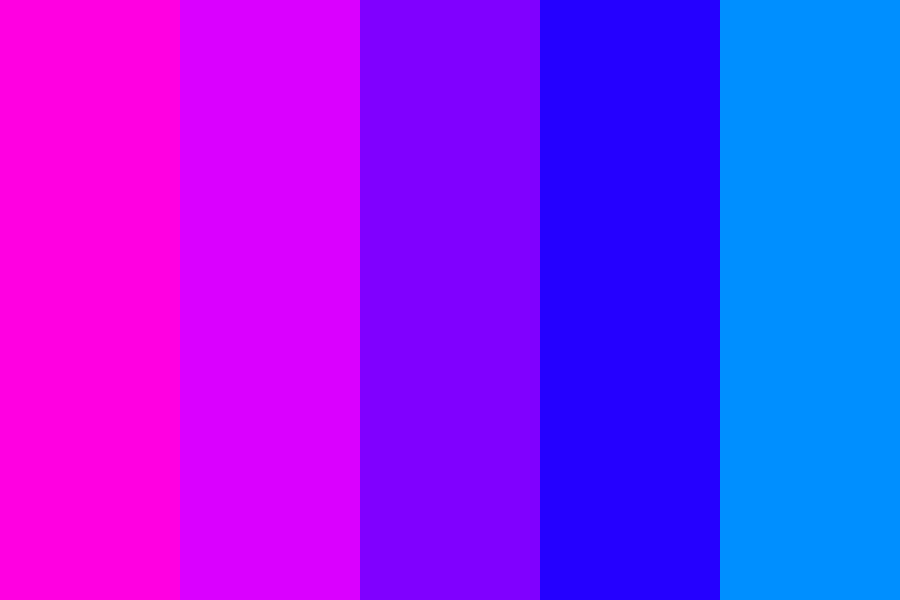 Pink 2 Blue Transitions 1 Color Palette
