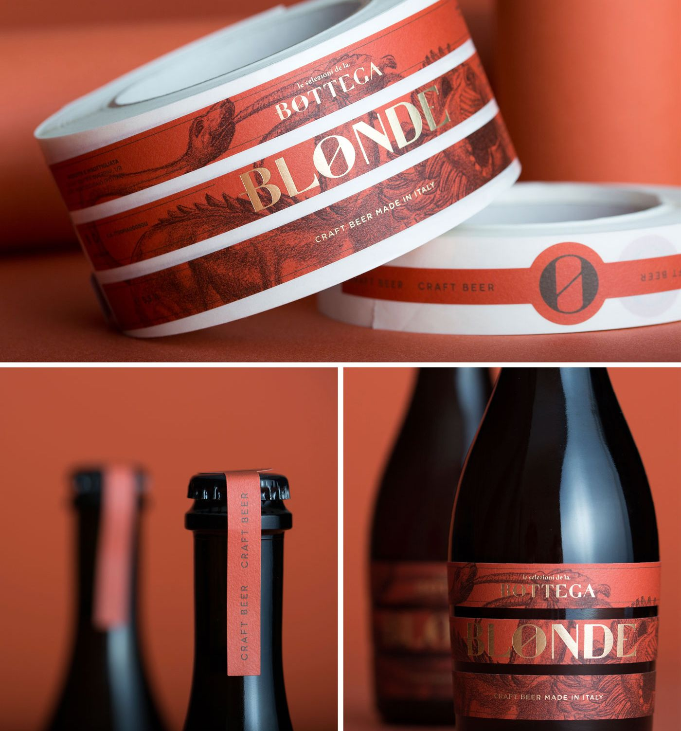 La Bottega Olive Oil And Beer Beer Creative Packaging Design Packaging Design