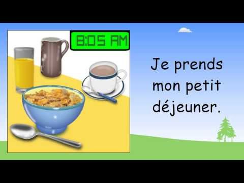 Daily routine in French   Beginner French Lessons for