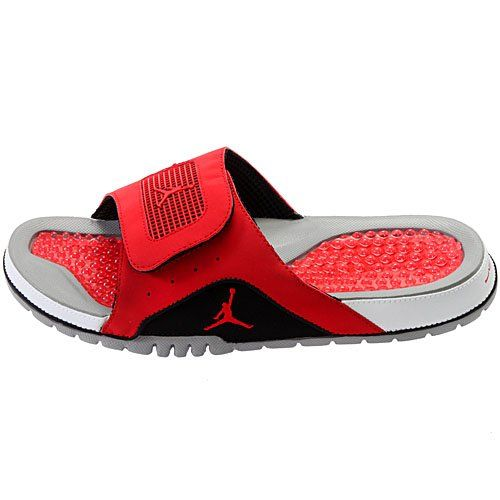 e5144f080e05 Nike Jordan Hydro IV Retro Mens Sandal Size 14 (Cement Grey   Fire Red    Black   White) 532225-002