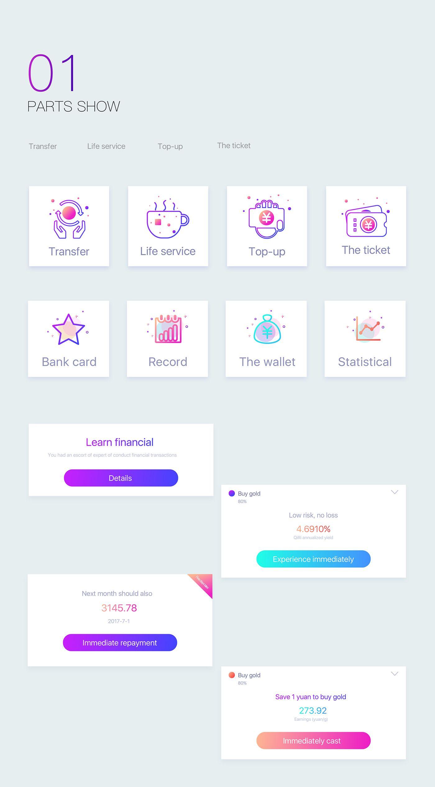 Vault financial app design | Ui Design | App design, Ui