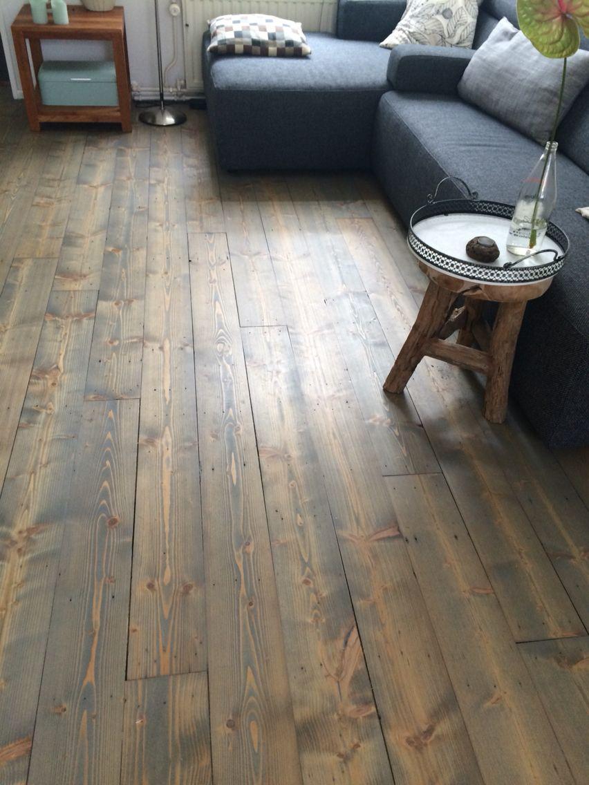 grenen vloer geschuurd en geolied in rm silver grey door parket