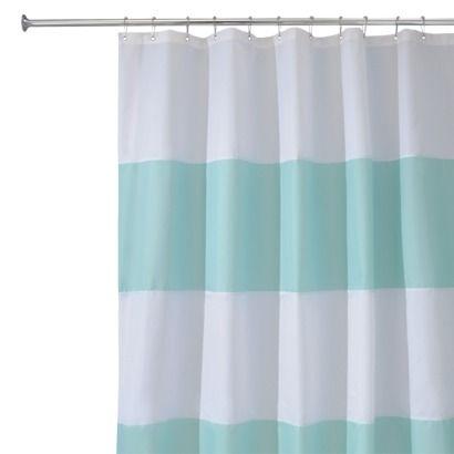 CLAWFOOT TUB BATHROOM - InterDesign Zeno Shower Curtain - Blue/White ...