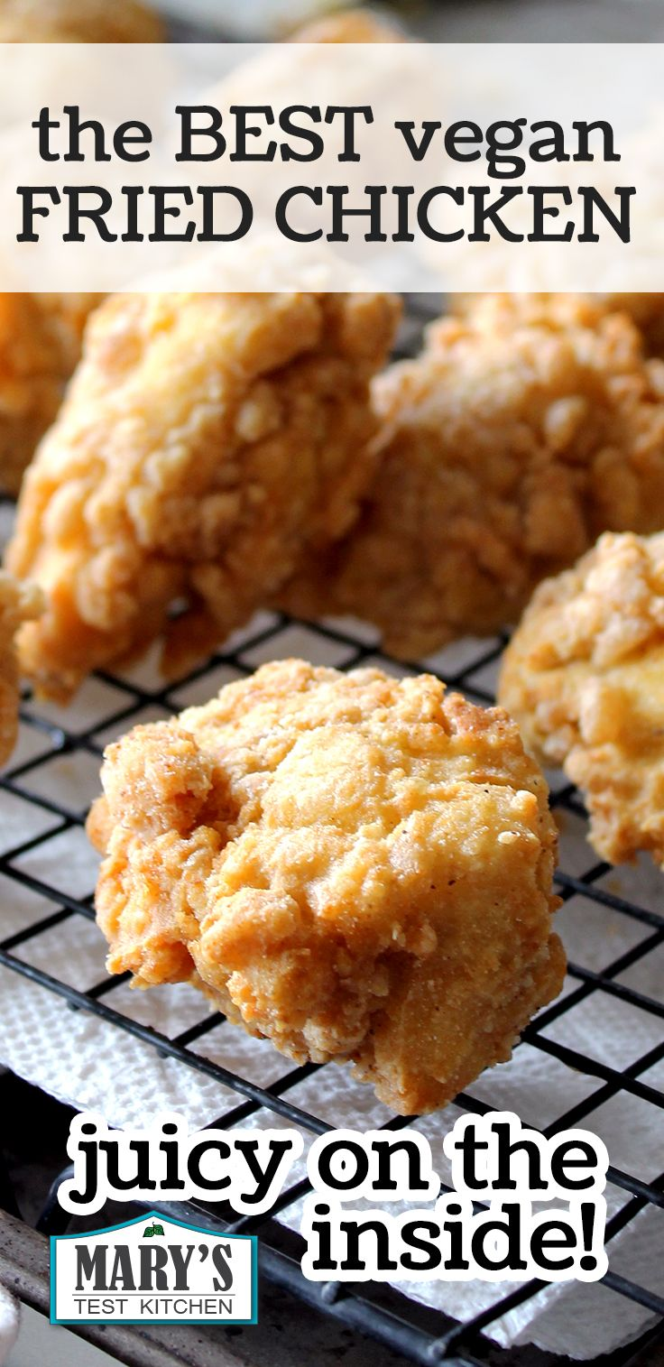 The Best Vegan Fried Chicken Recipe Gluten Free Recipe Vegan