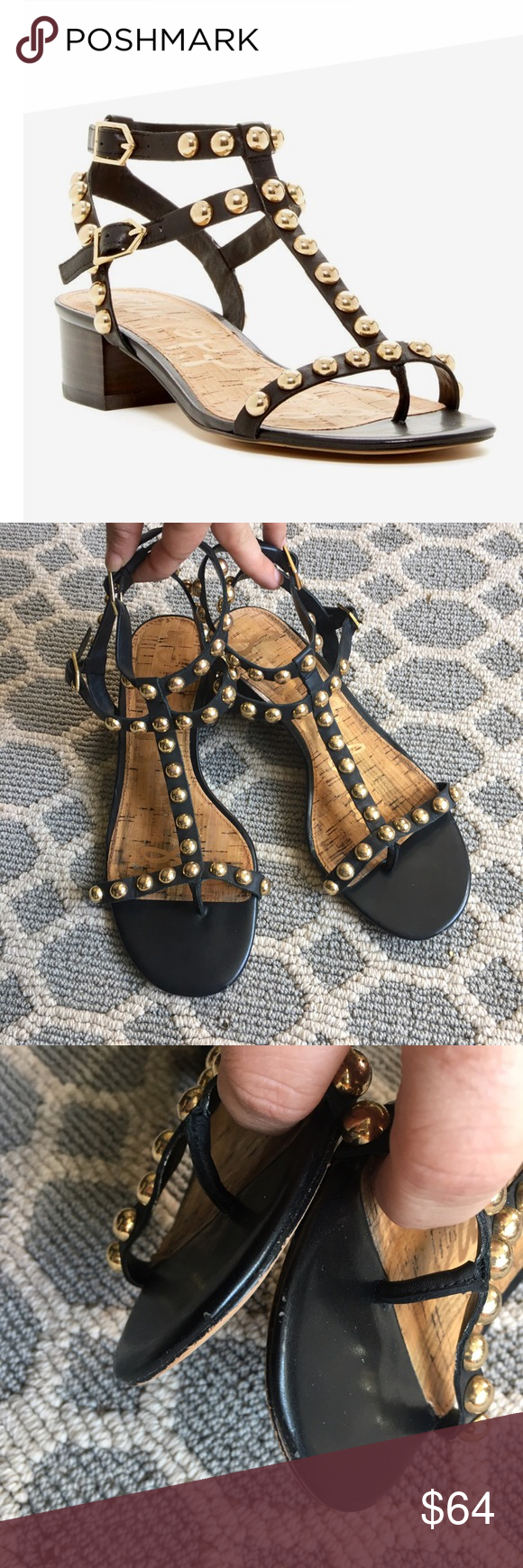 5836b7e6c Sam edelman asbury gladiator block heel sandals Very good condition