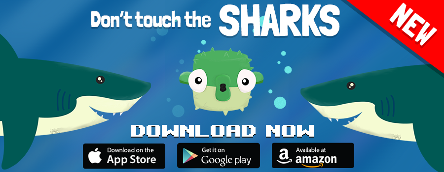 Avoid The Sharks Arcade Game, iOS, Android Spike game