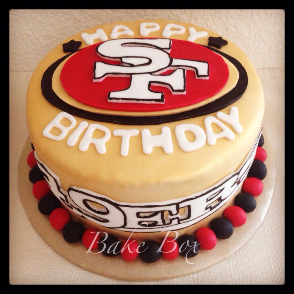 49ers Theme Birthday Cake San Francisco Bake Box Customised